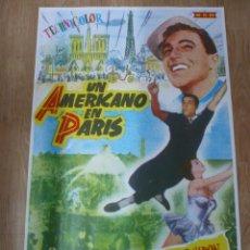 Cine: CARTEL REPLICA DE PELICULA DE CINE UN AMERICANO EN PARIS GENE KELLY 60 X 97 CM. Lote 39886451
