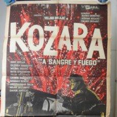 Cine: POSTER ORIGINAL ARGENTINO KOZARA MILENA DRAVIC BERT SOTLAR ZIVOJINOVIC VELJKO BULAJIC 1962. Lote 39895362