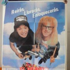 Cine: POSTER ORIGINAL EL MUNDO SEGUN WAYNE MICHAEL MYERS ROB LOWE PENÉLOPE SHEERIS 1992 PARAMOUNT. Lote 39903550