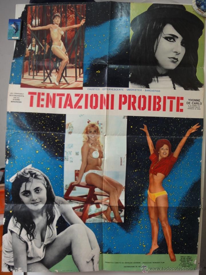 POSTER ORIGINAL ITALIANO TENTAZIONI PROIBITE FORBIDDEN TEMPTATIONS YVONNE DE CARLO OSVALDO CIVIRANI (Cine - Posters y Carteles - Documentales)