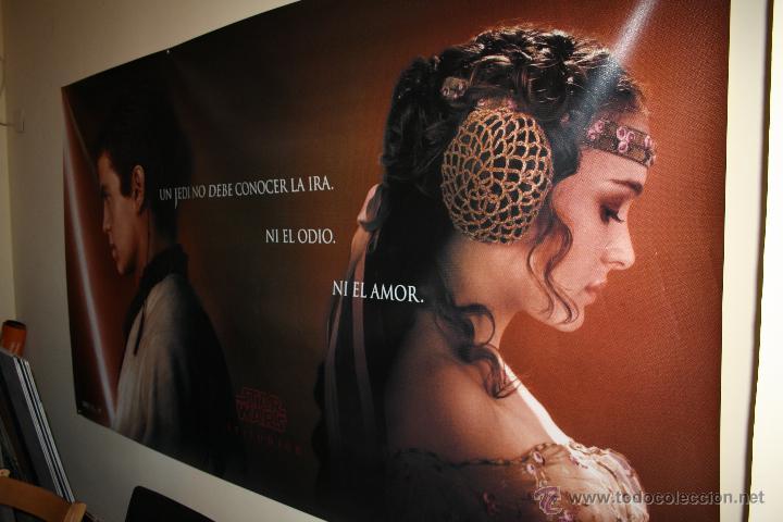 CARTEL POSTER LONA STAR WARS. EPISODIO II. AÑO 2001. (Cine - Posters y Carteles - Ciencia Ficción)