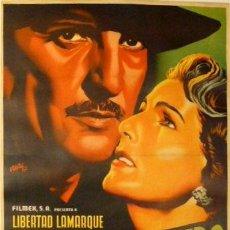 Cine: CARTEL DE RENAU. 'TE SIGO ESPERANDO'.1951.70X95 CM.(MÉJICO). LIBERTAD LAMARQUE Y ARTURO DE CORDOVA. Lote 61664018