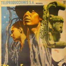 Cine: CARTEL DE RENAU. 'RAÍCES'.1955.69 X 95 CM.(MÉJICO). BENITO ALAZRAKI. Lote 39928806