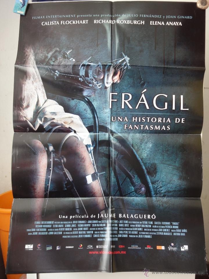 POSTER ORIGNIAL FRAGILES UNA HISTORIA DE FANTASMAS CALISTA FLOCKHART JAUME BALAGUERO 2005 DOBLE LADO (Cine - Posters y Carteles - Terror)