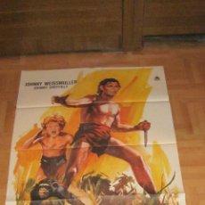 Cine: EL TRIUNFO DE TARZAN CARTEL ORIGINAL (1MX70) 1975 JOHNNY WEISSMULLER. Lote 68403087