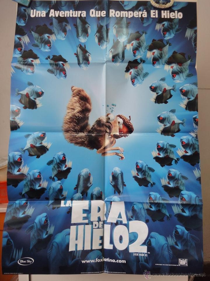 POSTER ORIGINAL ICE AGE 2 THE MELTDOWN LA ERA DE HIELO 2 CARLOS SALDANHA DOBLE LADO 20TH CENTURY FOX (Cine - Posters y Carteles - Infantil)