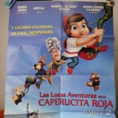Cine: POSTER ORIGINAL LAS LOCAS AVENTURAS DE CAPERUCITA ROJA HOODWINKED TOO HOOD VS EVIL MIKE DISA 2011. Lote 39956716