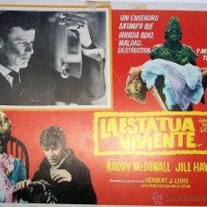 Cine: TERROR - LA ESTATUA VIVIENTE - RODDY MCDOWALL - LOBBY CARD ORIGINAL MEXICANO. Lote 39966113