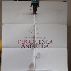 Cine: POSTER ORIGINAL TERROR EN LA ANTARTIDA WHITEOUT KATE BECKINSALE TOM SKERRITT DOMINIC SENA DOBLE LADO. Lote 39976030