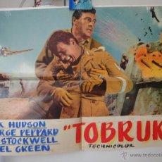 Cine: POSTER ORIGIGNAL ITALIANO TOBRUK ROCK HUDSON GUY STOCKWELL GEORGE PEPPARD NIGEL BRUCE ARTHUR HILLER . Lote 39979364