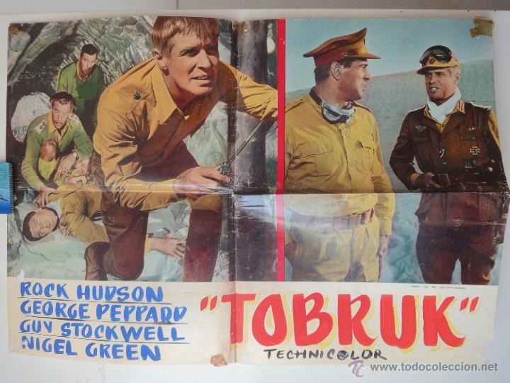POSTER ORIGINAL ITALIANO TOBRUK ROCK HUDSON GUY STOCKWELL GEORGE PEPPARD 1967 ARTHUR HILLER 1967 (Cine - Posters y Carteles - Bélicas)