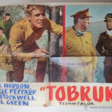 Cine: POSTER ORIGINAL ITALIANO TOBRUK ROCK HUDSON GUY STOCKWELL GEORGE PEPPARD 1967 ARTHUR HILLER 1967. Lote 39979371