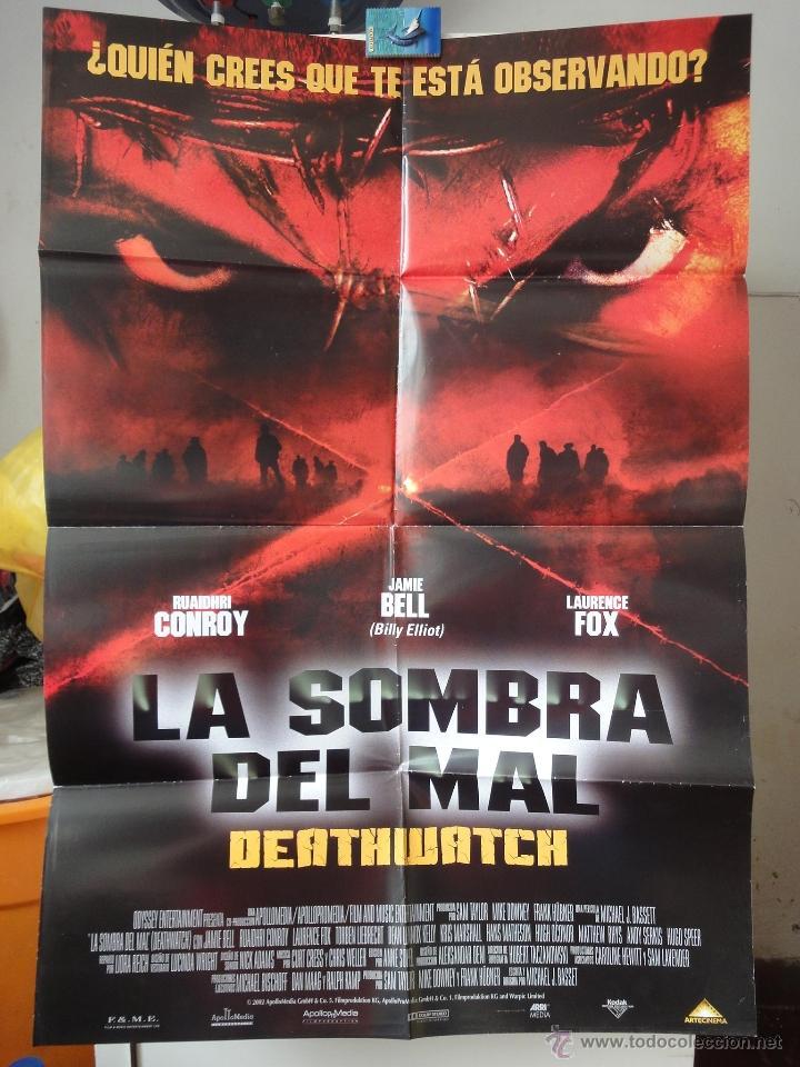 POSTER ORIGINAL LA SOMBRA DEL MAL DEATHWATCH JAMIE BELL RUAIDHRI CONROY LAURENCE FOX DOBLE LADO 2002 (Cine - Posters y Carteles - Terror)