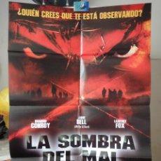 Cine: POSTER ORIGINAL LA SOMBRA DEL MAL DEATHWATCH JAMIE BELL RUAIDHRI CONROY LAURENCE FOX DOBLE LADO 2002. Lote 39979589