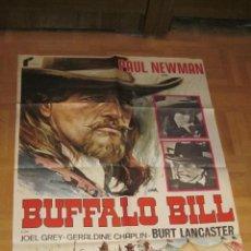 Cine: BUFFALO BILL CARTEL ORIGINAL DEL ESTRENO DE LA PELICULA 1977 PAUL NEWMAN (JANO). Lote 39999572