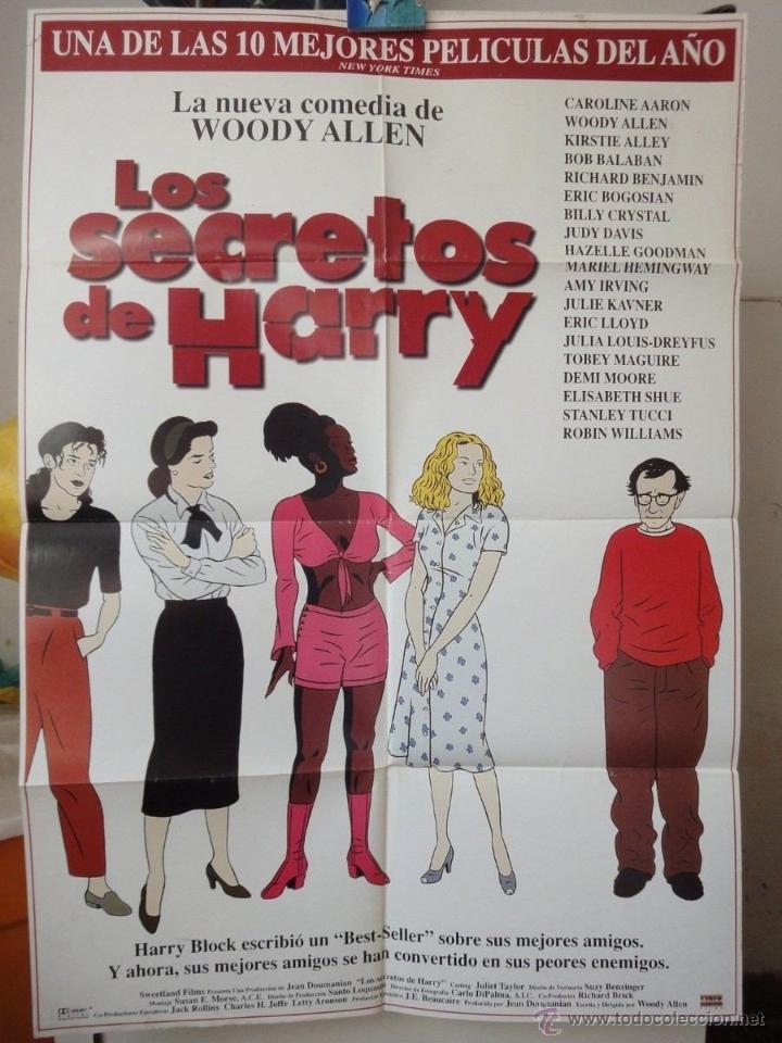 POSTER ORIGINAL LOS SECRETOS DE HARRY DESCONSTRUCTING HARRY WOODY ALLEN ROBIN WILLIAMS DEMI MOORE 97 (Cine - Posters y Carteles - Comedia)