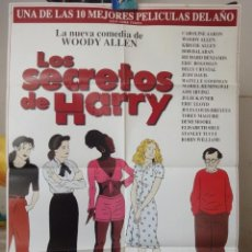 Cine: POSTER ORIGINAL LOS SECRETOS DE HARRY DESCONSTRUCTING HARRY WOODY ALLEN ROBIN WILLIAMS DEMI MOORE 97. Lote 40007721