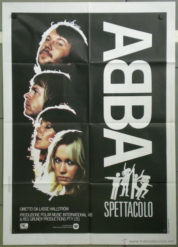 QH11 ABBA EL GRAN ESPECTACULO POSTER ORIGINAL ITALIANO 100X140 (Cine - Posters y Carteles - Musicales)