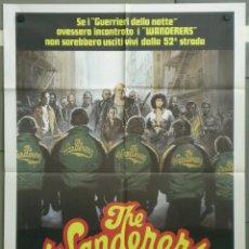 Cine: QH13 THE WANDERERS LAS PANDILLAS DEL BRONX KEN WAHL KAREN ALLEN POSTER ORIGINAL ITALIANO 100X140. Lote 40068345