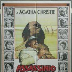 Cine: QH14 MUERTE EN EL NILO PETER USTINOV AGATHA CHRISTIE POSTER ORIGINAL ITALIANO 100X140. Lote 40068722