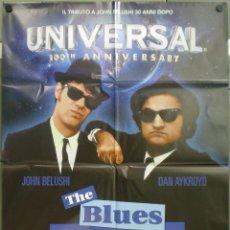 Cine: QH18 GRANUJAS A TODO RITMO THE BLUES BROTHERS JOHN BELUSHI AYKROID POSTER ORIGINAL ITALIANO 100X140. Lote 40069180