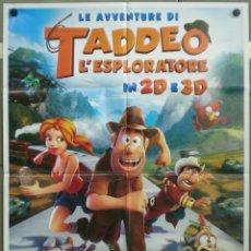 Cine: QH15 LAS AVENTURAS DE TADEO JONES ANIMACION POSTER ORIGINAL ITALIANO 100X140. Lote 40071373