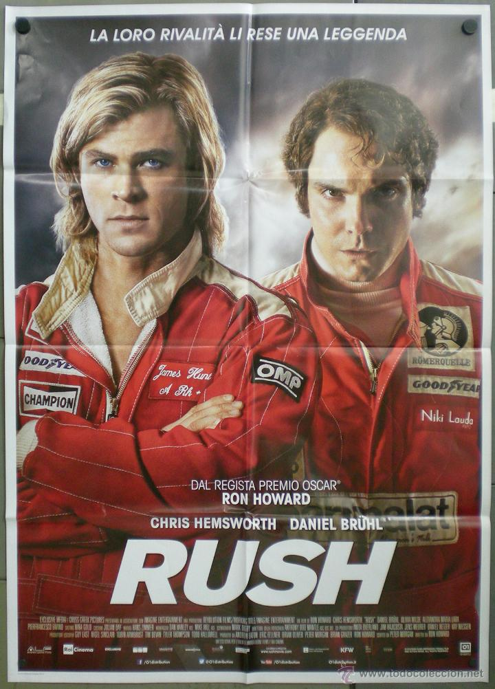 QH26 RUSH CHRIS HEMSWORTH DANIEL BRUHL AUTOMOVILISMO POSTER ORIGINAL ITALIANO 100X140 (Cine - Posters y Carteles - Deportes)