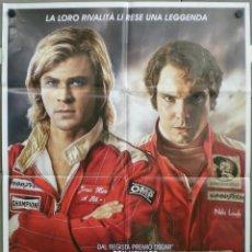 Cine: QH26 RUSH CHRIS HEMSWORTH DANIEL BRUHL AUTOMOVILISMO POSTER ORIGINAL ITALIANO 100X140. Lote 102611498