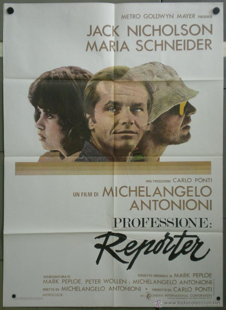 QH21 EL REPORTERO ANTONIONI JACK NICHOLSON POSTER ORIGINAL ITALIANO 100X140 (Cine- Posters y Carteles - Drama)