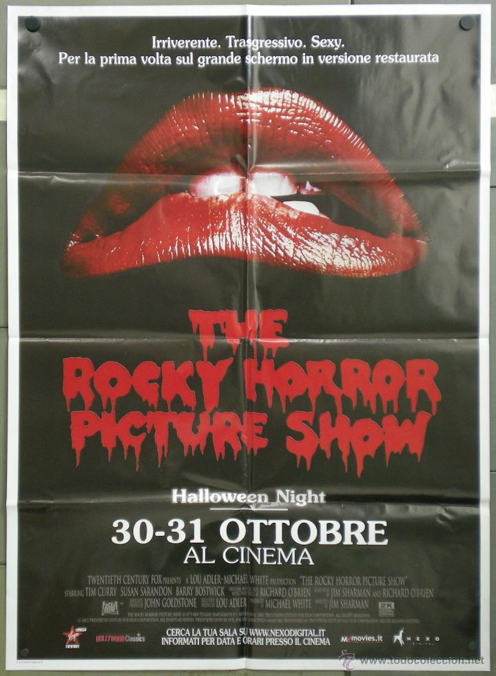 QH37 THE ROCKY HORROR PICTURE SHOW POSTER ORIGINAL ITALIANO 100X140 (Cine - Posters y Carteles - Terror)