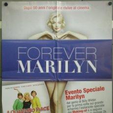 Cine: QH39 CON FALDAS Y A LO LOCO MARILYN MONROE POSTER ORIGINAL ITALIANO 100X140. Lote 40086311