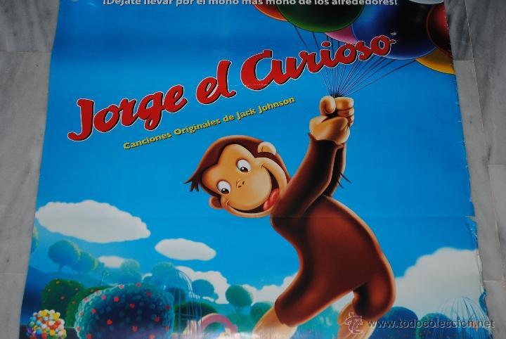 CARTEL DE CINE ORIGINAL JORGE EL CURIOSO, EL MONO MÁS MONO, 70 POR 100CM (Cine - Posters y Carteles - Infantil)