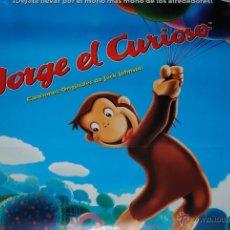 Cine: CARTEL DE CINE ORIGINAL JORGE EL CURIOSO, EL MONO MÁS MONO, 70 POR 100CM. Lote 40080679