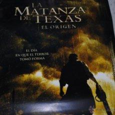 Cine: CARTEL DE CINE ORIGINAL LA MATANZA DE TEXAS, EL ORIGEN, NUEVO, 70 POR 100CM. Lote 128830496