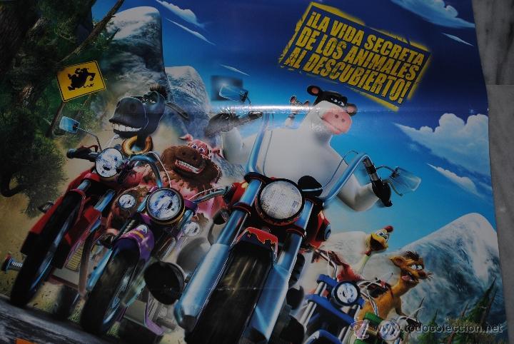 CARTEL DE CINE ORIGINAL EL CORRAL, UNA FIESTA MUY BESTIA, NUEVO, 70 POR 100CM (Cine - Posters y Carteles - Infantil)
