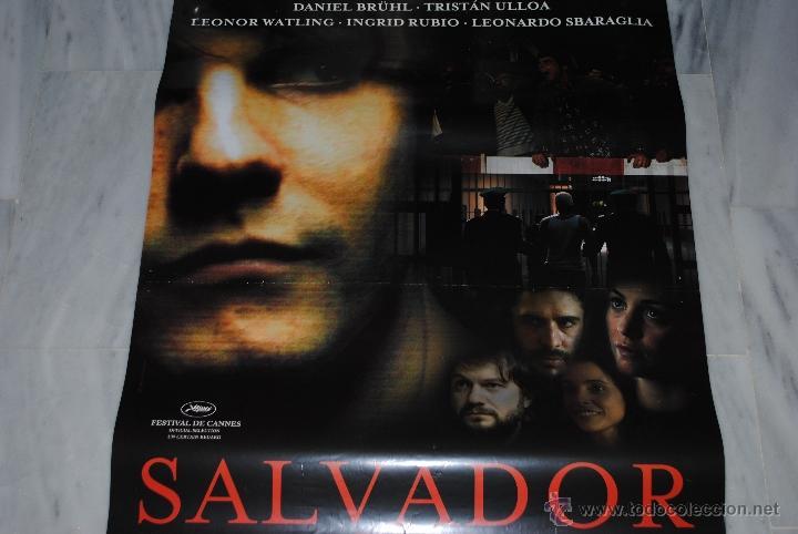 CARTEL DE CINE ORIGINAL SALVADOR, 70 POR 100CM (Cine - Posters y Carteles - Suspense)
