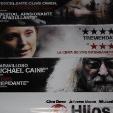 Cine: CARTEL DE CINE ORIGINAL HIJOS DE LOS HOMBRES, NUEVO, 70 POR 100CM. Lote 40082330
