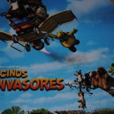 Cine: CARTEL DE CINE ORIGINAL VECINOS INVASORES, NUEVO, 70 POR 100CM. Lote 40082511