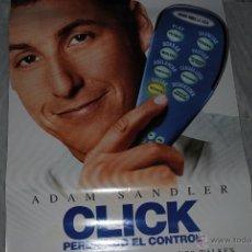 Cine: CARTEL DE CINE ORIGINAL ADAM SANDLER CLICK PERDIENDO EL CONTROL, NUEVO, 70 POR 100CM. Lote 40082663