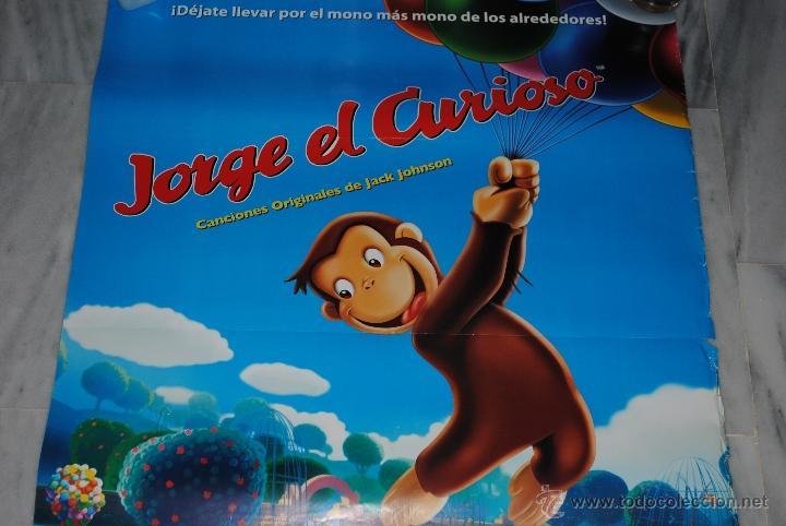 Cine: CARTEL DE CINE ORIGINAL JORGE EL CURIOSO, EL MONO MÁS MONO, 70 POR 100CM - Foto 3 - 40080679