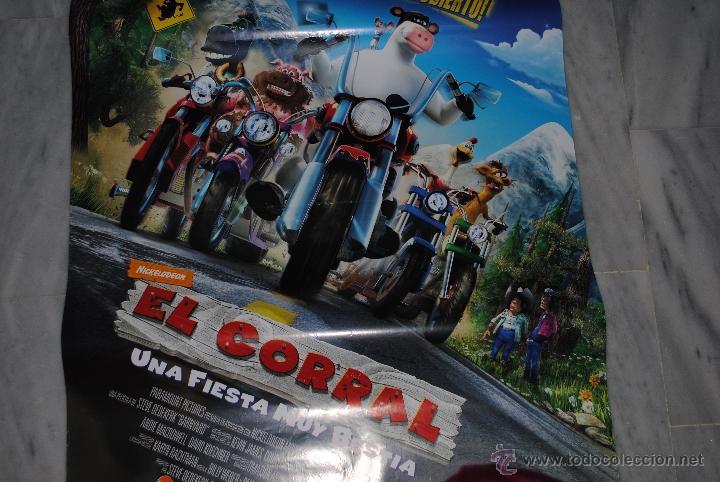 Cine: CARTEL DE CINE ORIGINAL EL CORRAL, UNA FIESTA MUY BESTIA, NUEVO, 70 POR 100CM - Foto 2 - 40080939