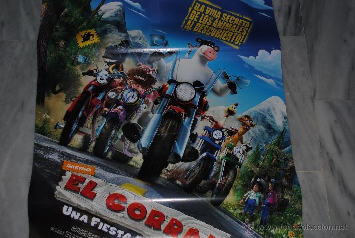 Cine: CARTEL DE CINE ORIGINAL EL CORRAL, UNA FIESTA MUY BESTIA, NUEVO, 70 POR 100CM - Foto 3 - 40080939