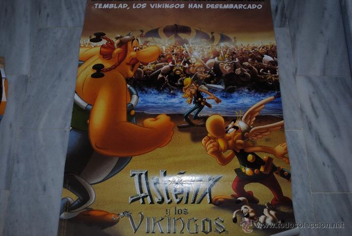 Cine: CARTEL DE CINE ORIGINAL ASTERIX Y LOS VIKINGOS, NUEVO, 70 POR 100CM - Foto 3 - 40081189