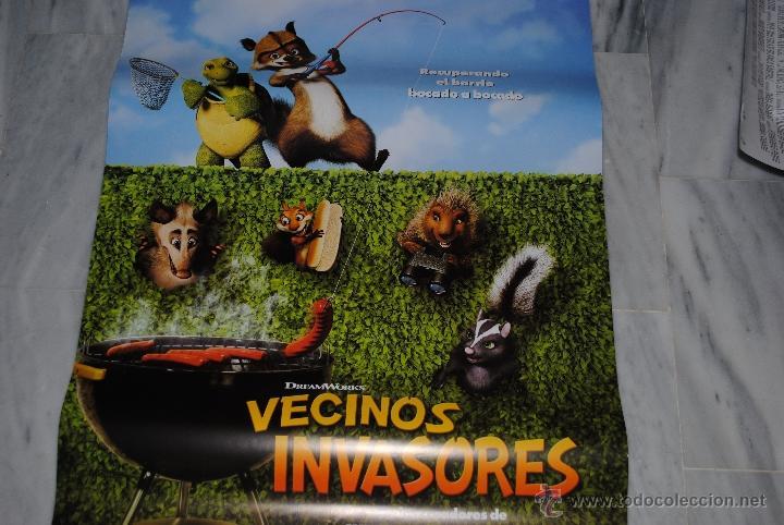 Cine: CARTEL DE CINE ORIGINAL VECINOS INVASORES, NUEVO, 70 POR 100CM - Foto 3 - 40082478