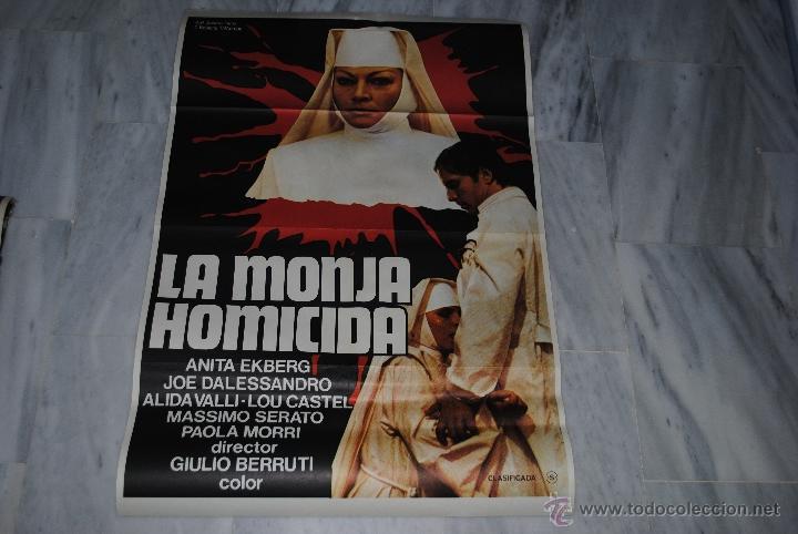 Cine: CARTEL DE CINE ORIGINAL LA MONJA HOMICIDA, 70 POR 100CM, LEER - Foto 2 - 40089178