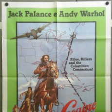 Cine: QH45 COCAINE COWBOYS ANDY WARHOL JACK PALANCE POSTER ORIGINAL 100X140 ITALIANO. Lote 40118407