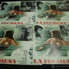 Cine: CARMEN SEVILLA 4 CARTELERAS MEXICANAS DE LA PELICULA LA PROMESA 30 X40 CTMS. Lote 40203423