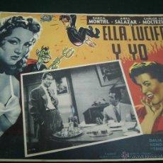 Cine: SARITA MONTIEL CARTELERA MEXICANA DE LA PELICULA ELLA, LUCIFER Y YO 30 X40 CTMS . Lote 40207958