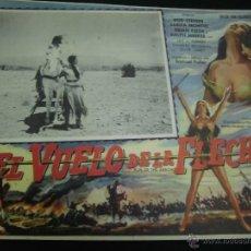 Cine: SARITA MONTIEL CARTELERA MEXICANA DE LA PELICULA EL VUELO DE LA FLECHA 30 X40 CTMS . Lote 40207976