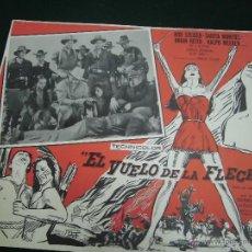 Cine: SARITA MONTIEL CARTELERA MEXICANA DE LA PELICULA EL VUELO DE LA FLECHA 30 X40 CTMS . Lote 40207995